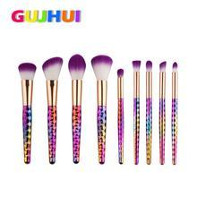 GUJHUI Beauty Girl Hot Professional 9PCS  Make Up Foundation Eyebrow Eyeliner Blush Cosmetic Concealer Brushes Dec.7