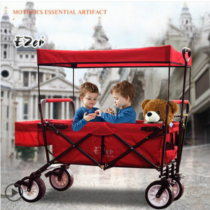 Reclining sit dual folding portable ultra-wide child simple twins triplets stroller baby stroller