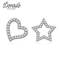 Dorado Glittering Paved Cluster CZ Diamonds Love Heart And Stars Shaped Stud Earrings High Quality Bulk