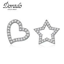 Dorado Glittering Paved Cluster CZ Diamonds Love Heart And Stars Shaped Stud Earrings High Quality Bulk Sale