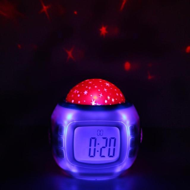 Kinderzimmer sternenhimmel  Musik Thermometer Timer Bunte Sternenhimmel Led nachtlicht ...