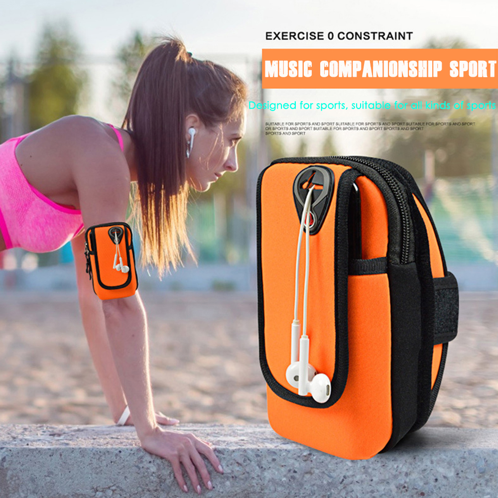 Sport Armband Running Flip Bag Case For Iphone Samsung Universal 5.5inch Smartphone Earphone Holes Keys Arm Bags Pouch Armbands Mobile Phone Accessories
