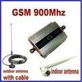 HOT High Gain Mini GSM 900 Mhz Móvel Celular Amplificador de Sinal RF Repetidor impulsionador Kit + 10 m cabo + Antena Otário Alta Qualidade