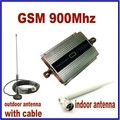 HOT High Gain Mini GSM 900Mhz Mobile Cell Phone Signal Amplifier Booster RF Repeater Kit + 10m cable +Sucker Antenna Top Quality