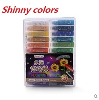 Maped Color Pens Plastic Crayons With Shinny Colors Effect Watercolor 12 24 Set Color Pens Oil