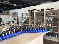 2019 New e juice test stand updated cigarette stand shelf holder rack box 20 slot e liquid test stand for vape store