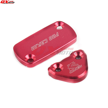 CNC Brake Fluid Reservoir Cap Cover For CR 80 85 500 XR250R CRF 250R 450R 450X Dirt Bike Motorcross Off- Road Front + Rear