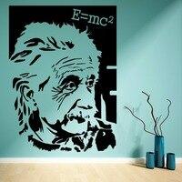 Ünlü scientist Albert einstein'ın E = mc2 resim vinil etiketler Sanat Mural duvar çıkartmaları ev dekor F-133