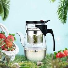 [GRANDEZA] Kamjove TP-787 taza Oficina Taza de Té Kungfu Tetera de Vidrio Resistente Al Calor 600 ml blooming tea pot Kungfu Cristal Art Tea Cup