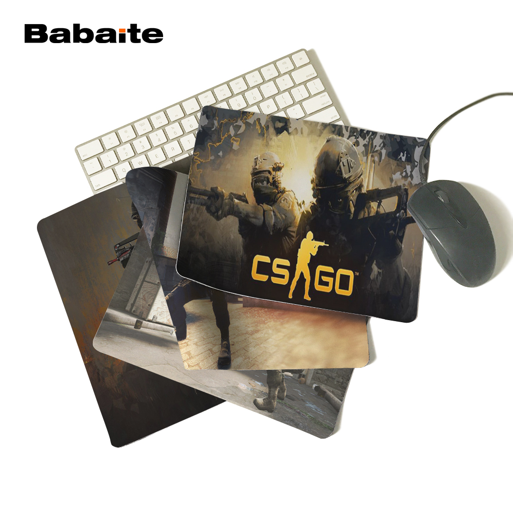 Babaite Soft Silicone Optical Computer Mouse Mat Cs Go sign Hot Sale Mouse Pad Computer Gaming MousePads 18*22cm and 25*29cm ...