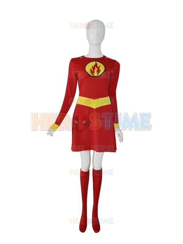 Supergirl Disfraz Personalizado Rojo y Amarillo Mujer Spandex - Disfraces - foto 2