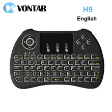 Original VONTAR Backlight i8 i8+ H9 2.4G Wireless English Keyboard Backlit with Touchpad for Mini PC Smart TV TV Box Laptop PC