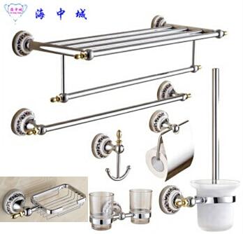 Hot Sale Pcs Bathroom Accessories SetTowel ShelfTowel Bar Paper - Bathroom hardware sale