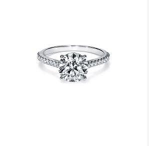 Livraison express gratuite 100% véritable 585 2 carats anneaux avec des bagues de mariage Moissanite, Moissanite de mariage passer le test