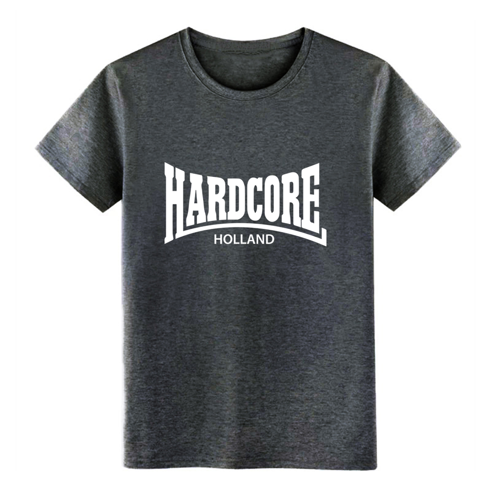 Men 39 s Hardcore Holland t shirt Designing 100 cotton Crew Neck Original Gift Authentic summer Trend shirt in T Shirts from Men 39 s Clothing