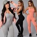 2017 Oferta Especial de La Venta Caliente Nuevas Mujeres de La Manera Larga Negro rosa Mono Sexy Busto Profunda O Cuello mamelucos mujeres Bodycon mono