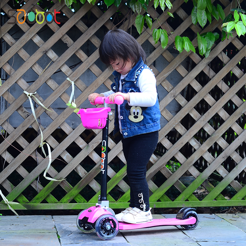 2017 cool children's scooter can be folded fast high children's scooter 3 three wheel scooter 3-12 years old Surfing scooter форма для выпекания three can 013464 12