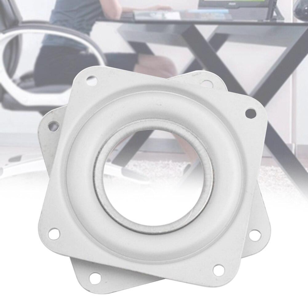3 Inch Platz Home Platten Lager 360 Grad Rotierenden Drehscheibe Hardware Fitting Weiß Schreibtisch Möbel Eisen Für Esstisch Aromatischer Geschmack Möbel Hardware Swivel Platten