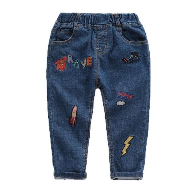 b922e369327 Boys Printing Jeans Pants 2018 New Kids Baby Boys Trousers Girls Jeans  Children Toddler Denim Pants Baby Casual Jean Infant Boys