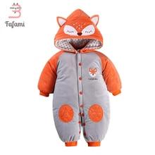Baby Snowsuit Cute Fox Baby Snow Wear Winter Rompers Newborn Snowsuits jacket for women boy Cotton Outerwear & Coats romper