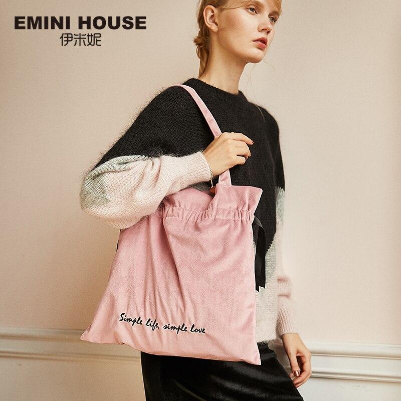 EMINI maison velours femmes fourre-tout sac à main décontracté sacs à bandoulière mode femmes spacieuses Messenger sac sacs d'expédition