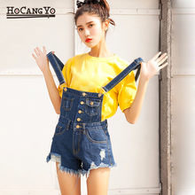 Fashion Denim Jumpsuit Women Bodysuit Casual Overalls for Women Rompers Short Tracksuit Female Denim Playsuits Combinaison Femme(China)