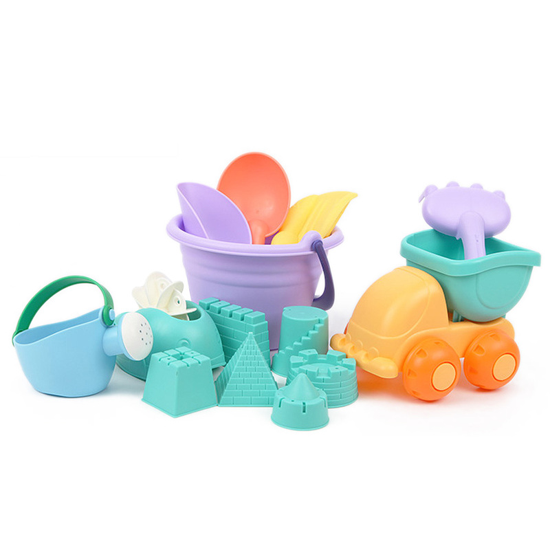 MrY Beach/Sand Toys  Kids Children Playing Beach Toys Summer Imaginative Colorful Soft Beach Sand Multi-piece Suit Tools Bucket