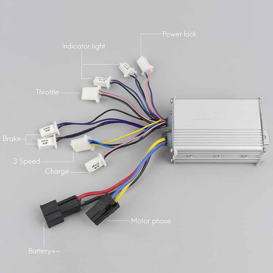 Electric Brushed Motor DC Controller 24V 36V 48V 250W-800W, Speed Controller For Electric Bicycle Scooter E-bike Accessories