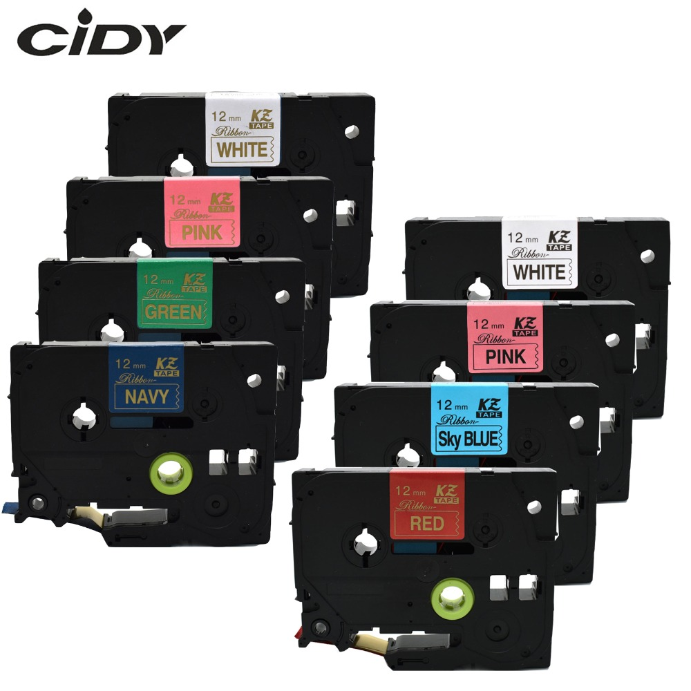 CIDY Satin Ribbon 12mm*4m Tze Label Tape TZe-RE34 TZ-RN34 TZE-RE31 TZ-R234 TZE-RG34 TZ-RW34 For Gift Brother P-Touch Printer