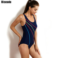 Riseado 2017 One Piece Swimsuit New Brand Swimwear Women Sexy Sports Suits Striped One Piece Bathing