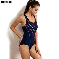 Riseado 2017 One Piece Swimsuit New Brand Swimwear Women Sexy Sports Suits Striped One Piece Bathing