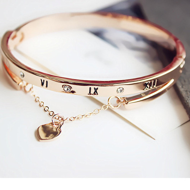 Luxury Famous Brand Jewelry Pulseira Stainless Steel Bracelet Bangle Gold Color Heart Love Tag