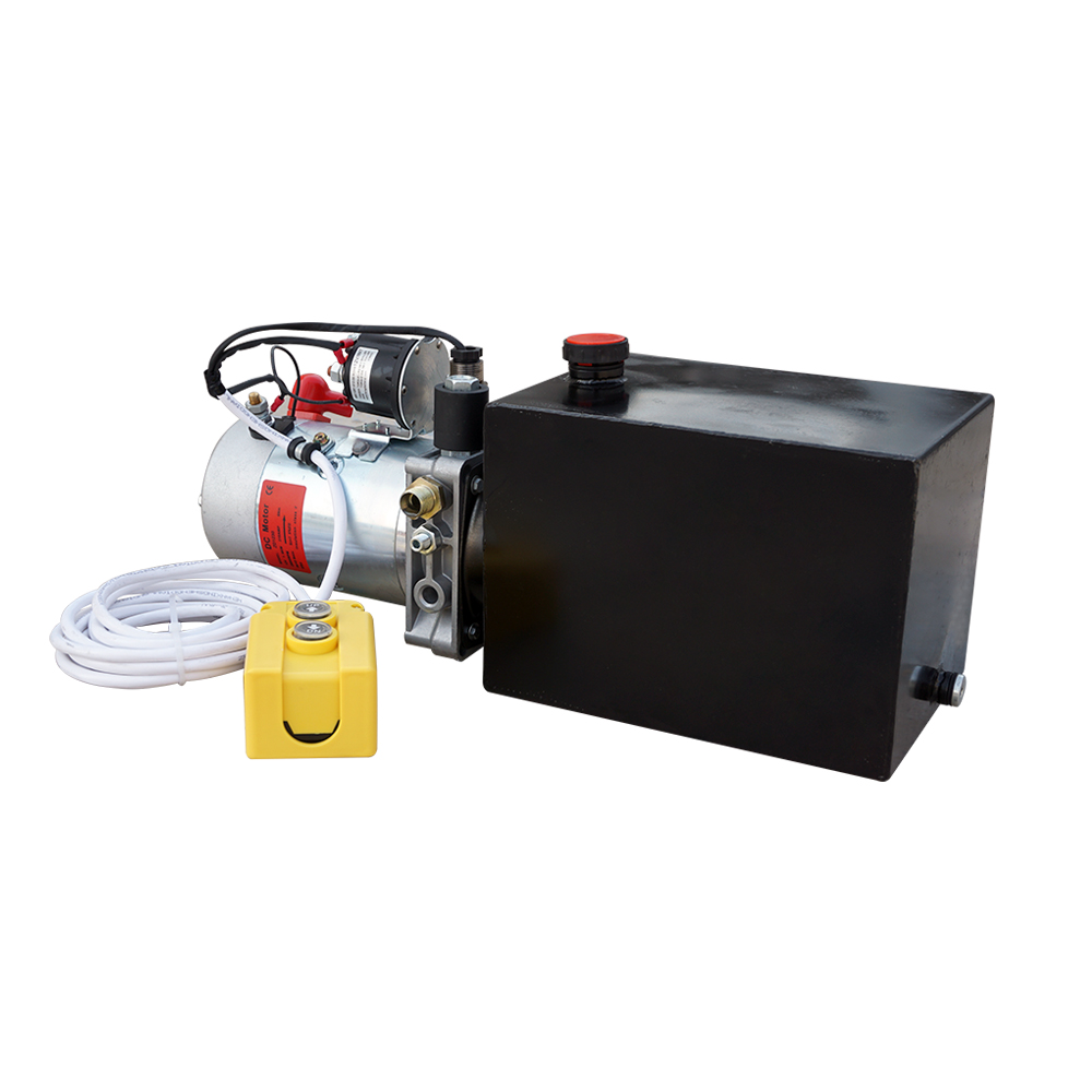 ECO SOURCES High Quality 8L Single Acting Hydraulic Pump 12V Dump Trailer 8 Quart 3200 PSI