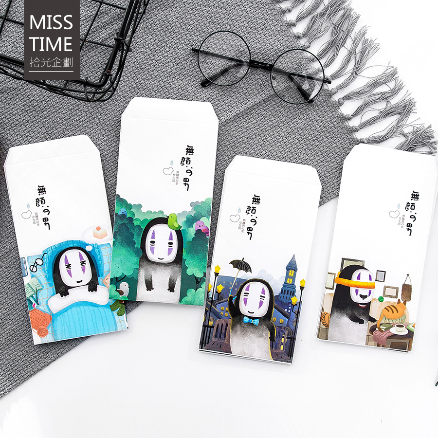 9pcs/Set 3 Envelopes+6 Writting Paper Novelty No Face Man Series Envelope For Gift Stationery School Supplies