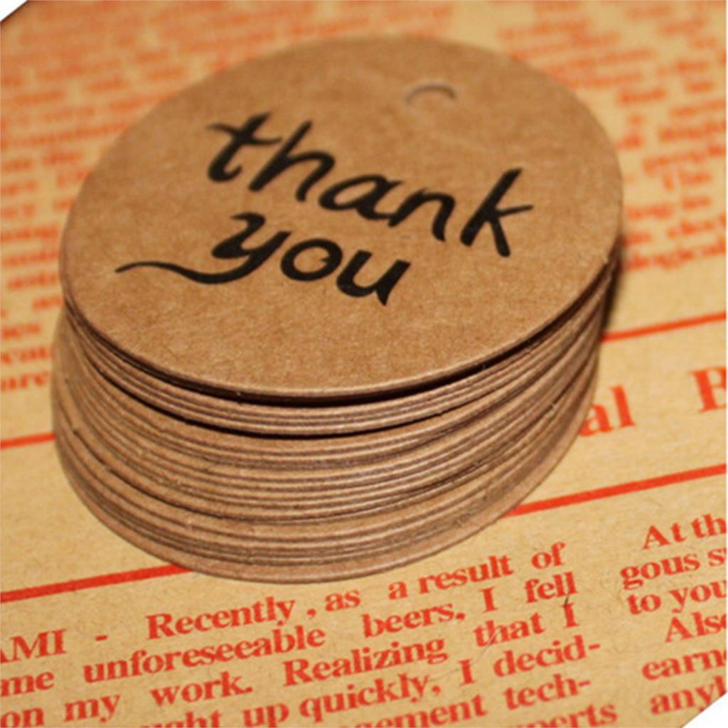 2018 New thank youKraft Paper Gift Tags Wedding Doorplate Scallop Favour Luggage 10Pcs/set Wholesale