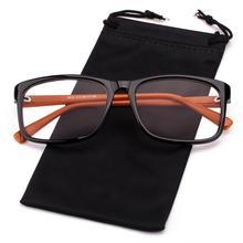 Память прямоугольные классические очки унисекс Рамка очки с прозрачными линзами Rx