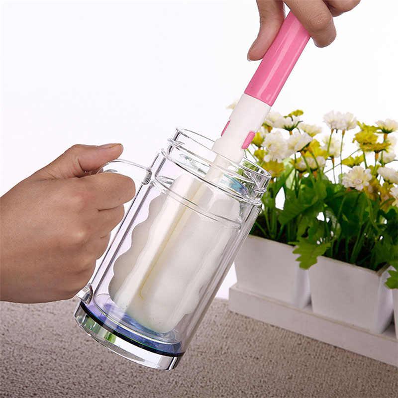Bebé recién nacido botella esponja cepillo alimentación tetina de la botella de leche cepillo herramienta de limpieza