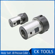 купить ER20 collet Motor shaft Chuck ER ER11 ER16 ER25 ER32 spindle Extension Rod tool holder CNC Milling drill chuck B10 12 18 дешево