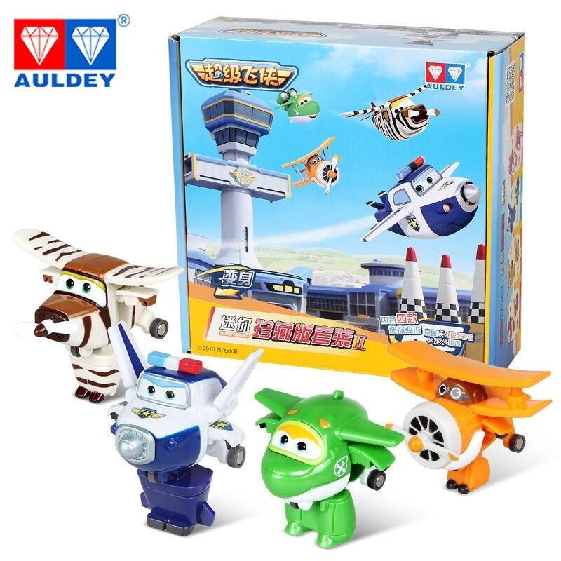 4 unids / set Mini Súper Alas de Alta Calidad Original JETT DIZZY - Figuritas de juguete - foto 2