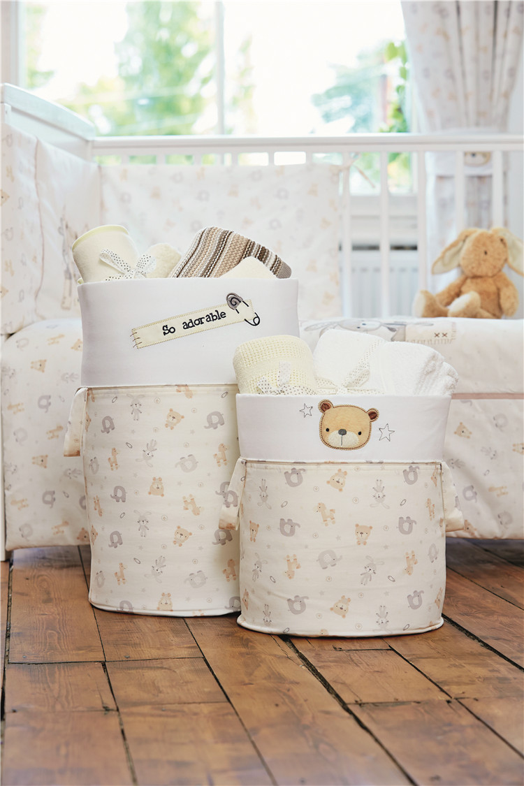 GEX Infant Special Storage Barrel,Household toys Dirty Clothes Foldable Baby Colorful Storage Basket Bag Laundry Basket TED