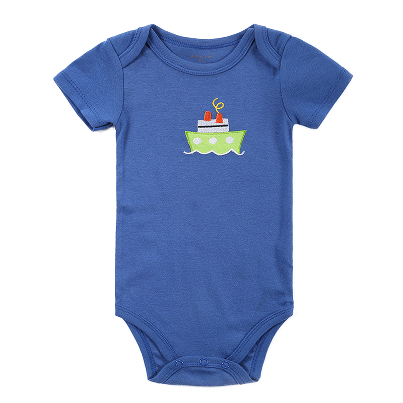 Baby Rompers 0-12Months Short-Sleeved Baby Infant Cartoon Recien nacido Rompers For Boy Girl Jumpsuits Clothing Newborn Clothes mother nest 3sets lot wholesale autumn toddle girl long sleeve baby clothing one piece boys baby pajamas infant clothes rompers
