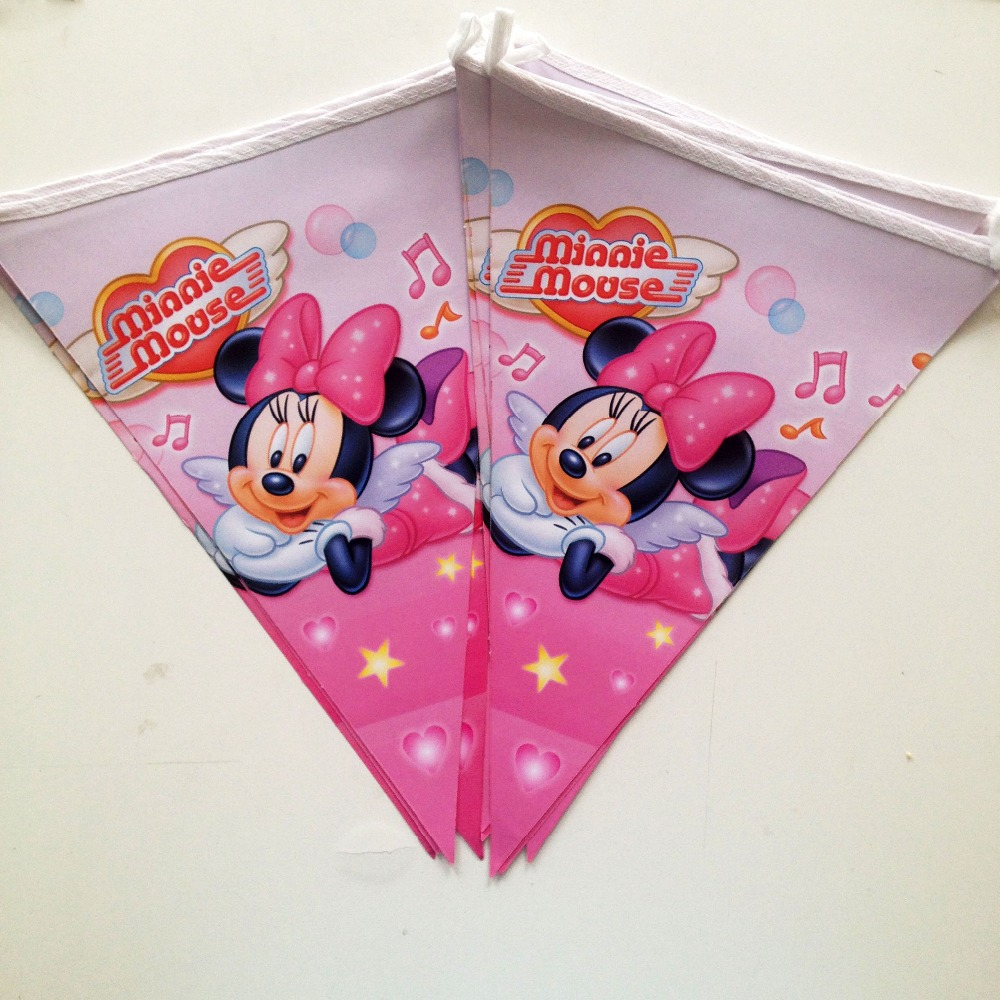 Minnie Mouse Party Supplies Birthday Flag Pennant Bunting