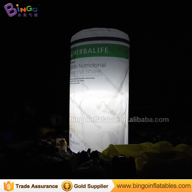 3M/10 feet High giant inflatable beer can with LED light inflatable advertising bottle can/inflatable can model for sale can toy ao058m 2m hot selling inflatable advertising helium balloon ball pvc helium balioon inflatable sphere sky balloon for sale