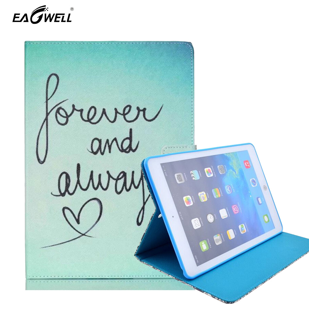 PU Leather Tablet Case For Apple iPad Air 2 iPad 6 Stand Magnetic Smart Cover Sleeve Funda Slim Protective Skin Shell Print 2017 luxury smart cover for ipad air 2 flip pu leather case for ipad air 2 ipad 6 tablet protective shell case 9 7 stand book cover