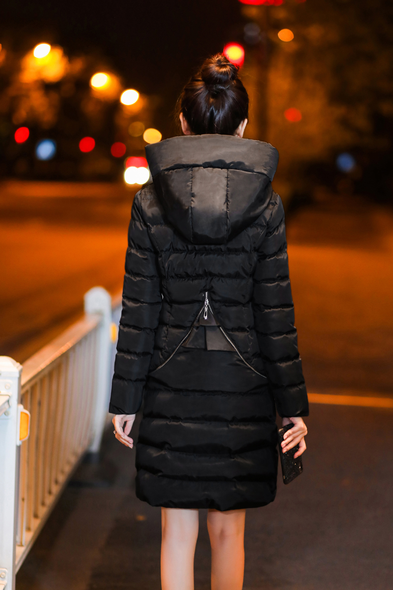 SexeMara Real Shot 2018 Winter New Down Cotton Suit Fashion Suit Female Small Fresh Warm Hooded Two-Piece Elegant Dress (16)