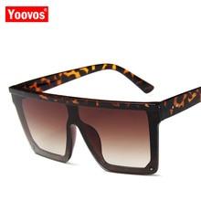 Yoovos Luxury Retro 2019 Square Sunglasses Women Vintage Can