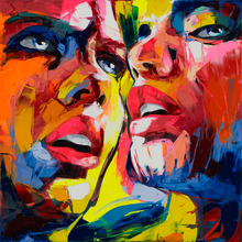 Hand Painted High quality Palette knife Modern Pop Art Oil Painting Canvas Francoise Nielly Pop Art Living Room Decoration Art