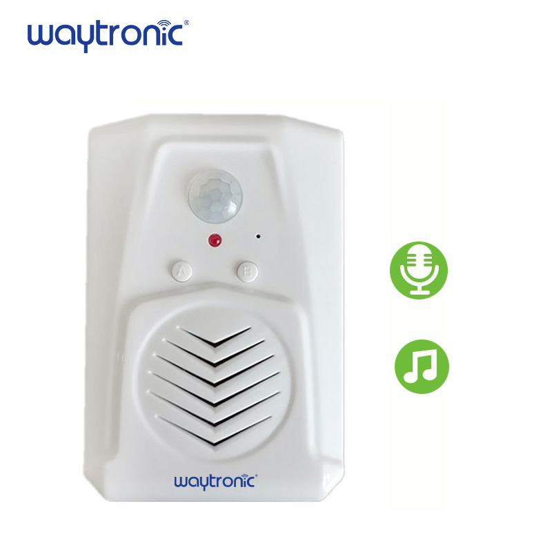PIR Motion Sensor Activated Sound Recording Player with Built in Microphone Audio Recordable Daily Voice Reminder Door Greeter in Sensor Detector from Security Protection