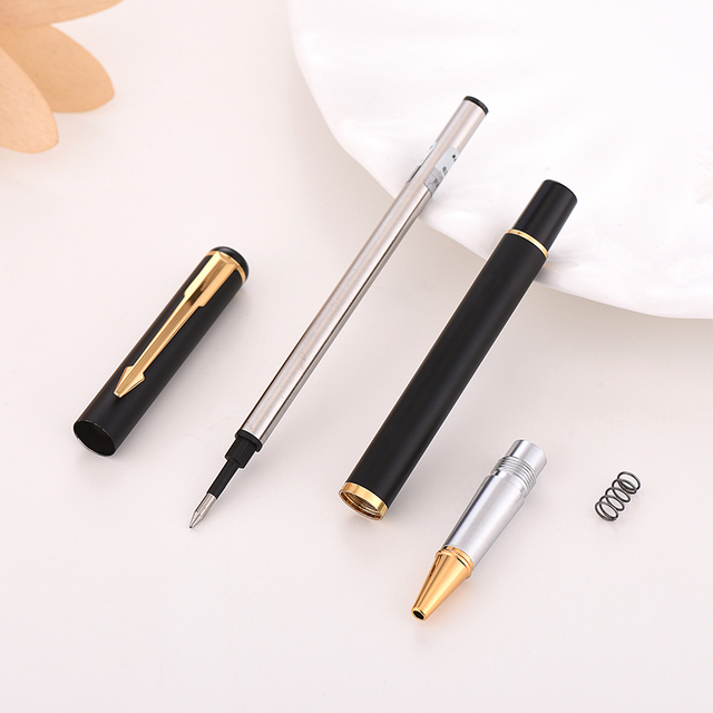 Luxury Rollerball Pen Baoer Gel Pen Metal Ball Ballpoint Pen  Papelar Boligrafo Stationery Material Escolar Volume boligrafos 2
