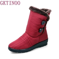 Snow Boots 2017 Women Winter Boots Mother Shoes Antiskid Waterproof Flexible Women Fashion Casual Boots Plus